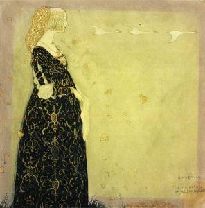 John Bauer - _Illustration till Svanhamnen i Bland tomtar och troll, 1908_